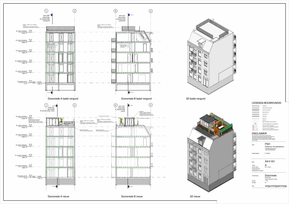 dakopbouw bouwtekening doorsnede kosten