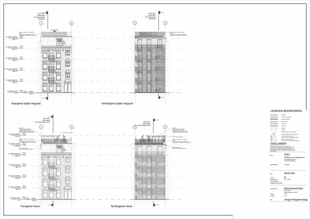 dakopbouw bouwtekening kosten aanzichten