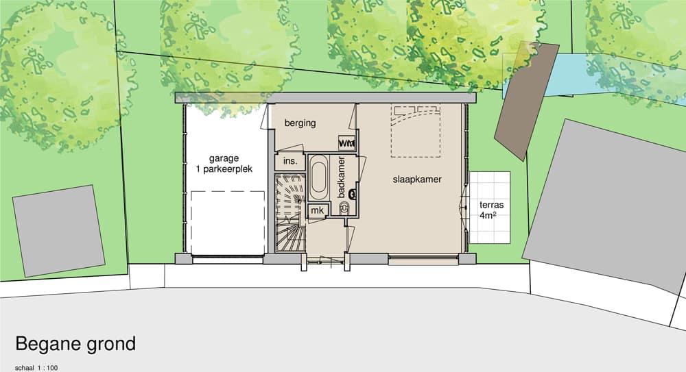 huis ontwerpen leiden begane grond
