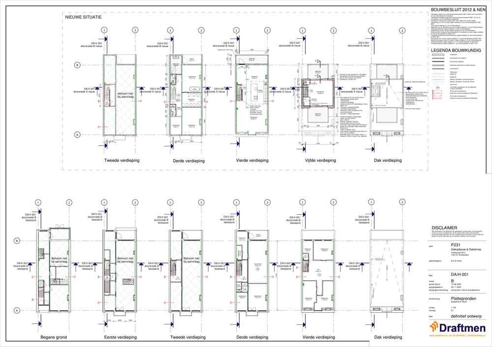 dakopbouw bouwtekening bouwtekeningen kosten