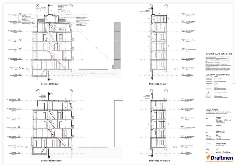 dakopbouw bouwtekening constructie kosten