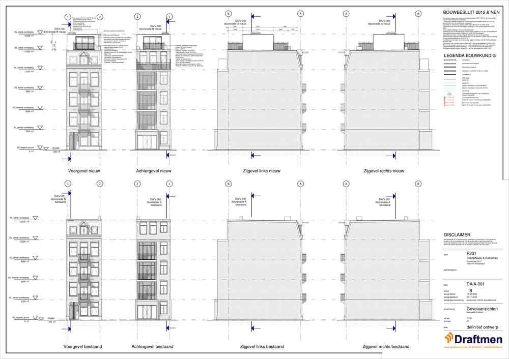 dakopbouw bouwtekening kosten