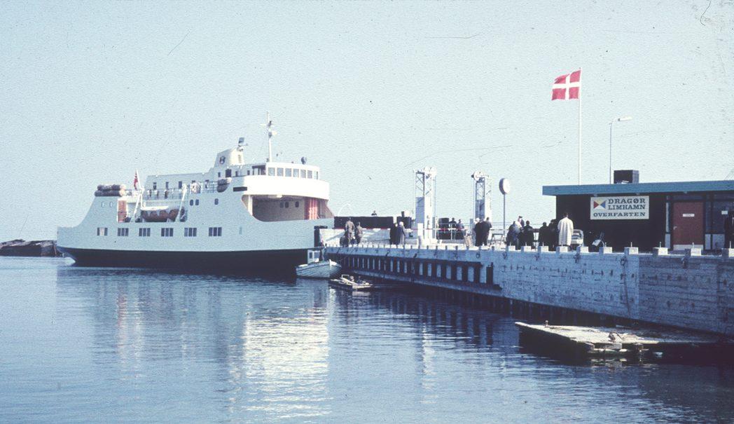 Dragør-Limhamnfærgen i 1962. Foto: Jørgen D. Petersen.