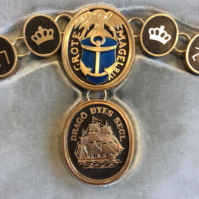 Store Maglebys våben og Dragørs segl i borgmesterkæden