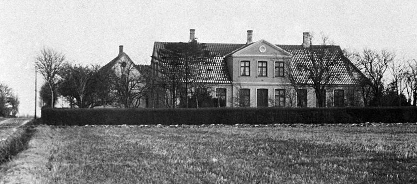 Petersminde set fra vest. Foto 1910-1920.