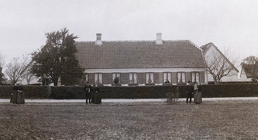 Kirkevej 9. Foto ca. 1890.