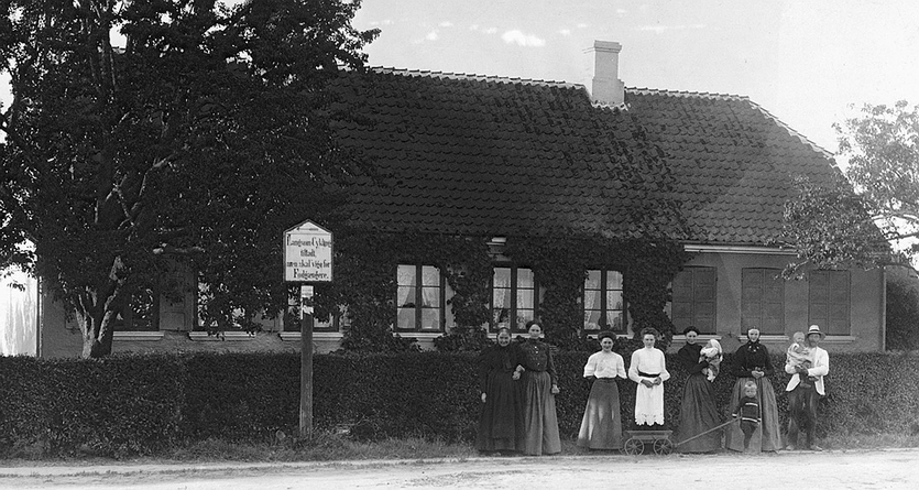 Kirkevej 9. Foto 1913.