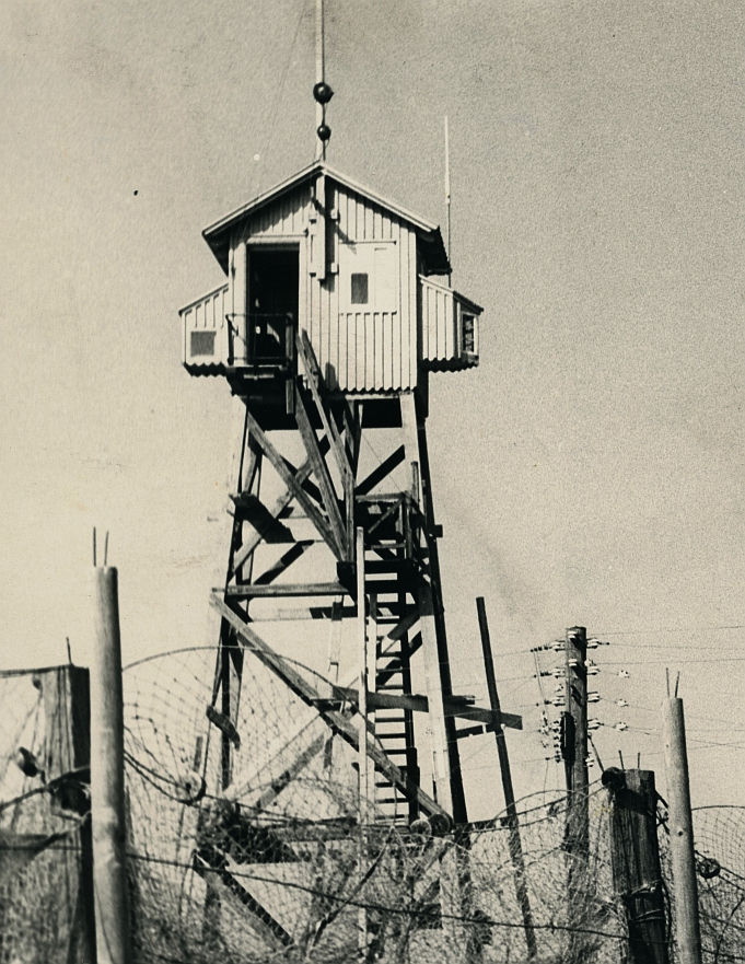 Lodstårnet i Dragør. Foto muligvis omkring opførelsen i 1912. Ukendt fotograf.