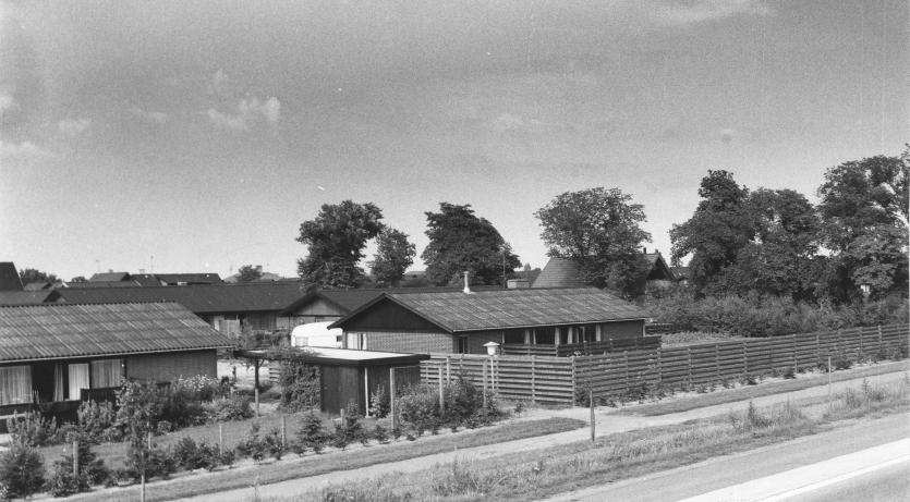 Thimandsvænget fotograferet af Dirch Jansen omkring 1980.