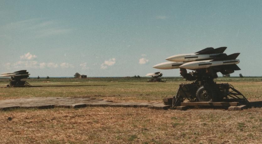 HAWK-raketter på Aflandshage på Amagers sydspids. Foto fra slutningen af 1960'erne.