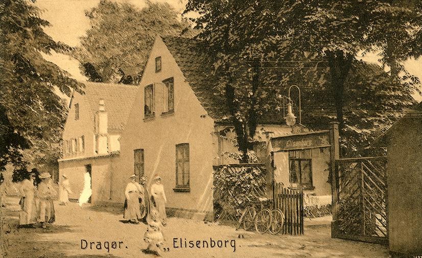 Elisenborg som restauration. Foto ca. 1910.