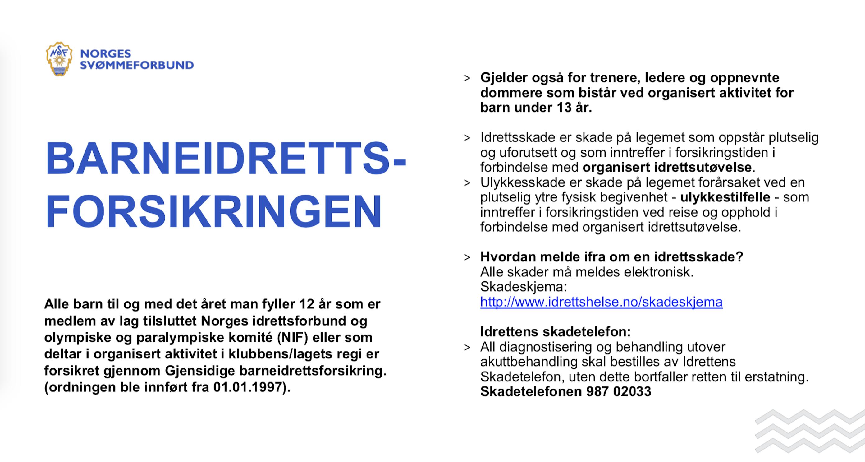 Praktisk Informasjon Drammen Svommeklubb
