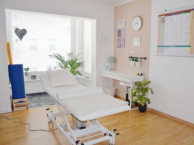 Behandlungsraum Drauphysio Praxis Villach