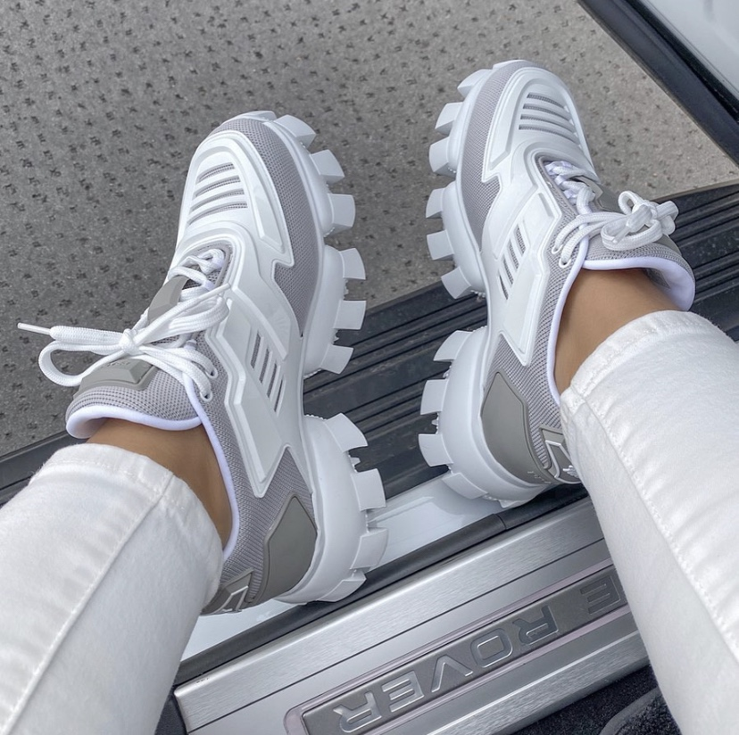 Prada Cloudburst Thunder Knit Sneakers