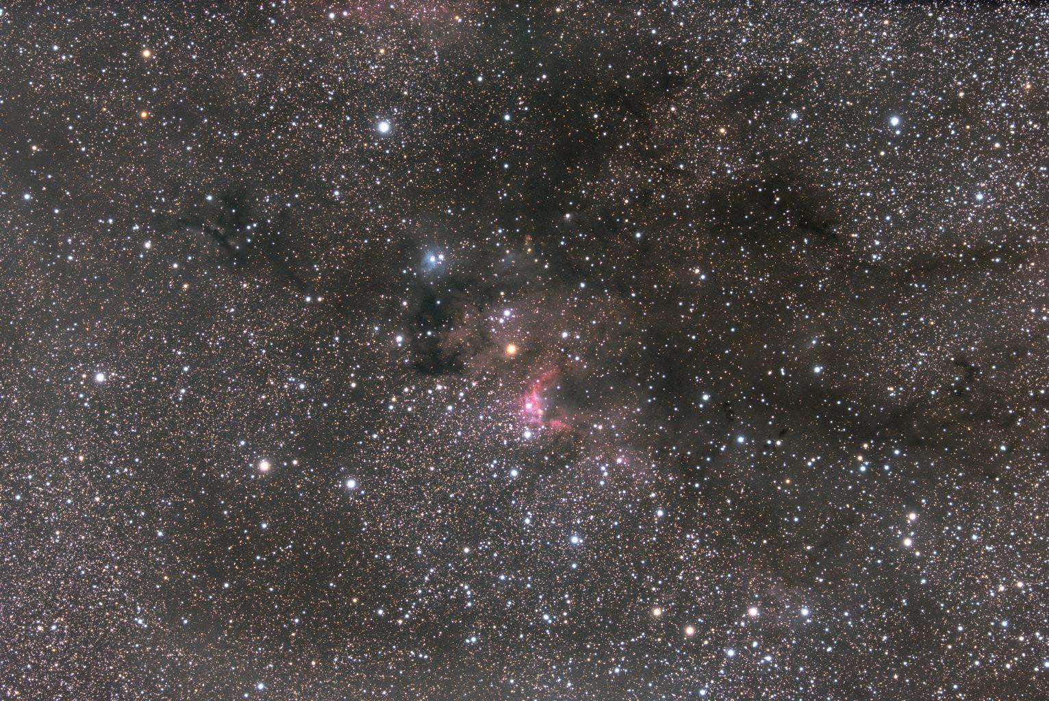 Cave Nebula in Cepheus, September 2021 ; TS76EDPH