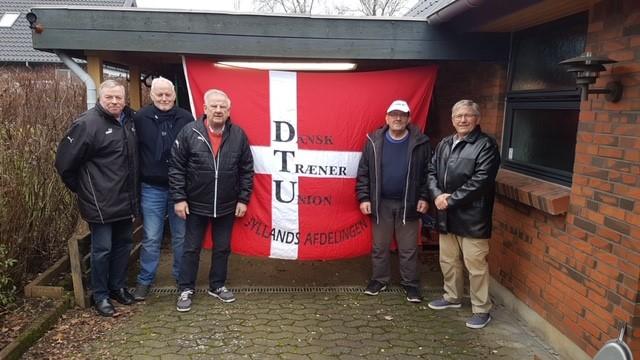 DTU's æresmedlem, Carl Nicolaisen, i midten, var en del af veteranklubben.