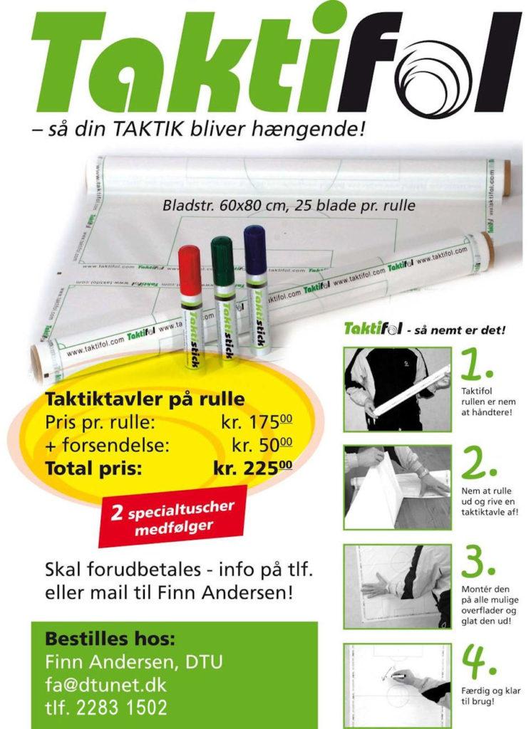 Køb Taktifol hos Dansk Træner Union for kun kr. 175,00 + fordsendelse kr. 50,00