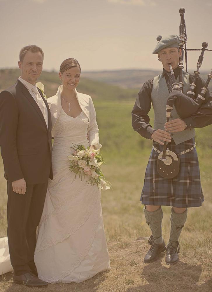 Dudelsackauftritt Hochzeit