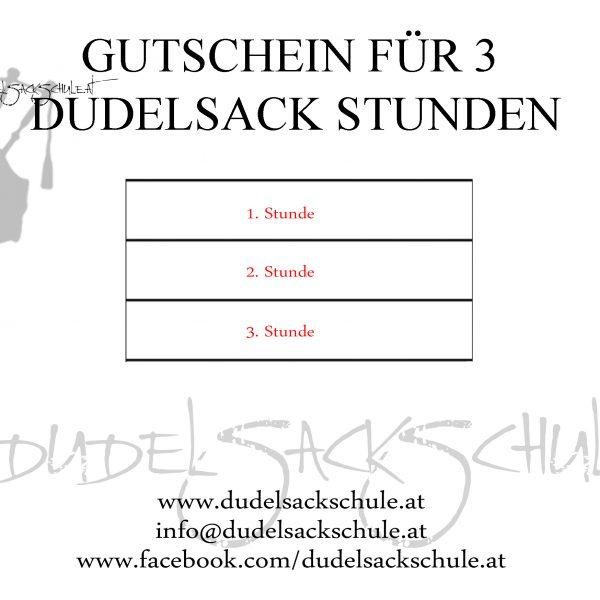 Gutschein 3 Stunden Dudelsack Unterricht