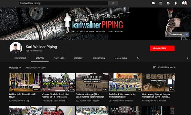 Karl Wallner Piping Youtube Blog