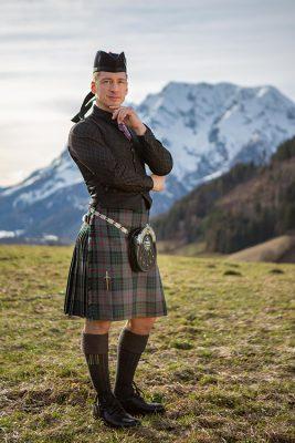 Austrian Piping Society Tartan Karo Kilt Heavy Weight kaufen