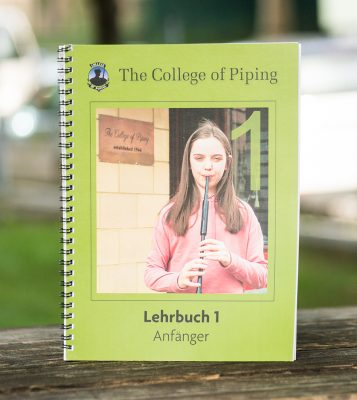Dudelsack Anfänger Lehrbuch College of Piping Deutsch