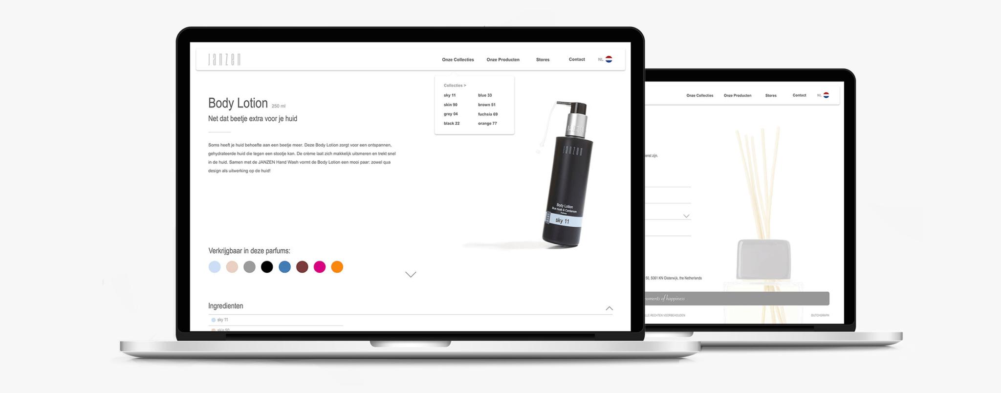 Portfolio Dutchgraph - Janzen - webdesign
