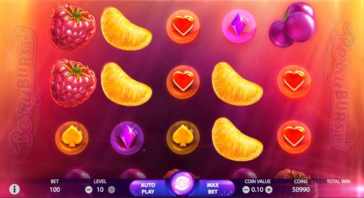 Berryburst – Spilleautomat fra NetEnd