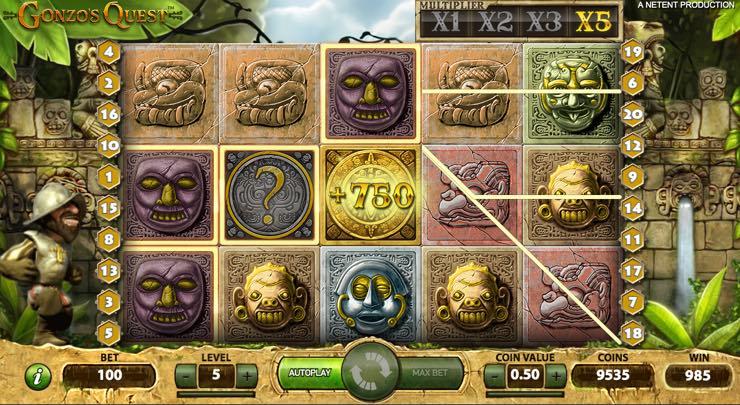 Gonzo's Quest – Spilleautomat fra NetEnd