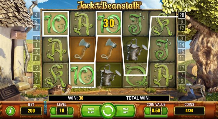 Jack and the Beanstalk – Spilleautomat fra NetEnd