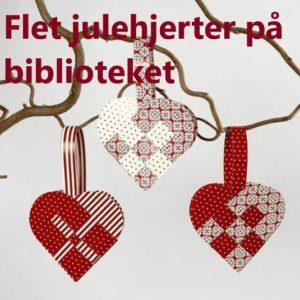 Flet julehjerter på Espergærde Bibliotek
