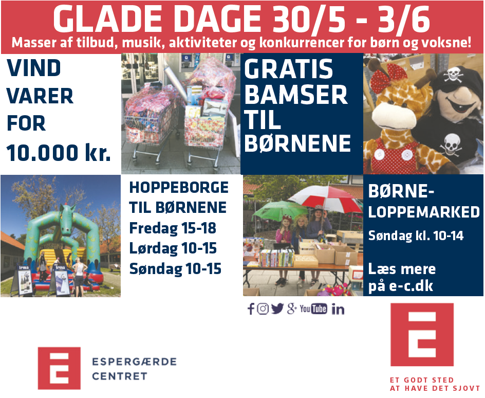 GLADE DAGE  30/5 – 3/6