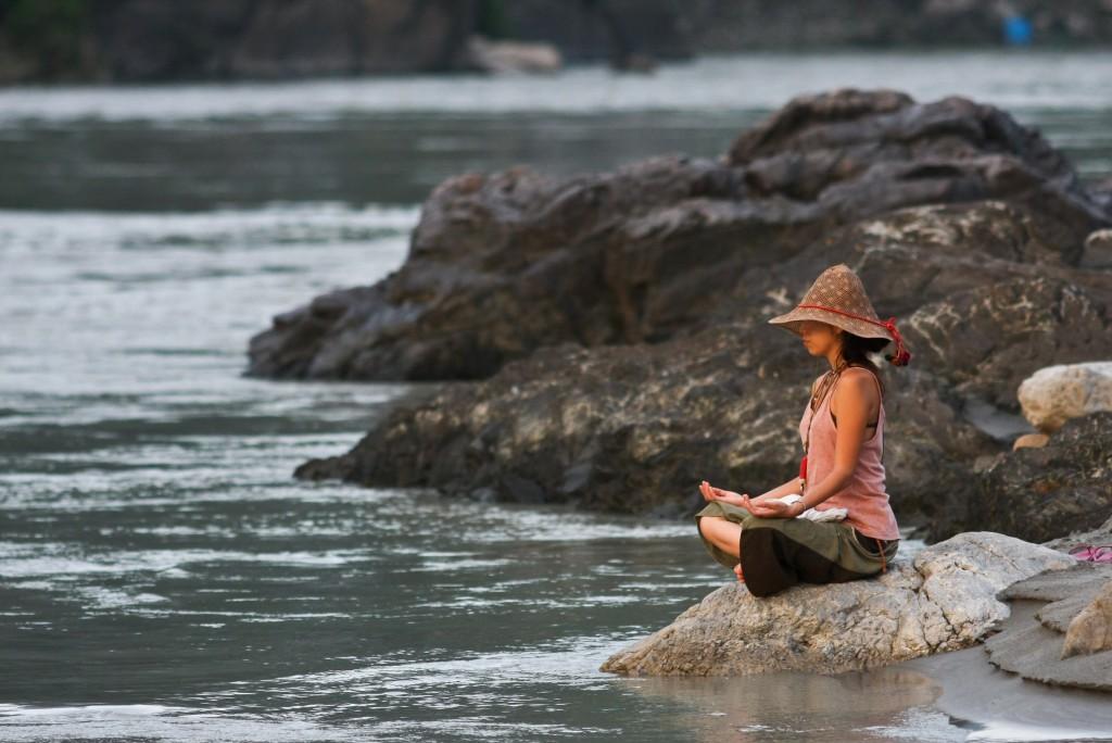 Meditation on the banks of Ganga: Rishikesh
