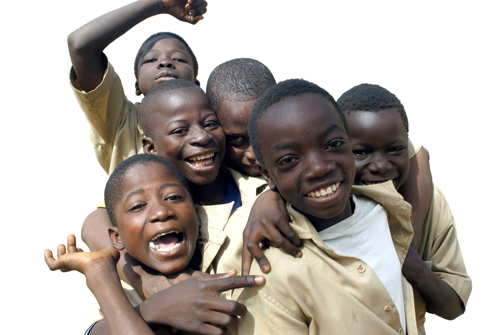 Jeunes écoliers Africains