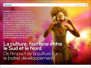 """Conférence n'GO: Lukas Pairon sur """"L'impact de l'art et de la culture sur le développement"""""""