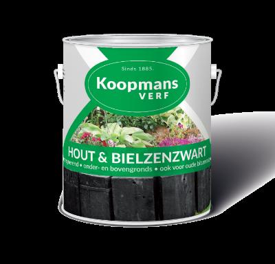Koopmansverf Hout & Bielzenzwart