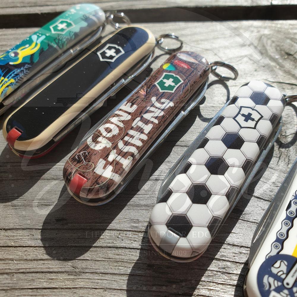 Classic med motiven Deep Dive, Skateboarding, Gone Fishing, World Of Soccer och en liten skymt av Bike Ride! Bild: Slims.se