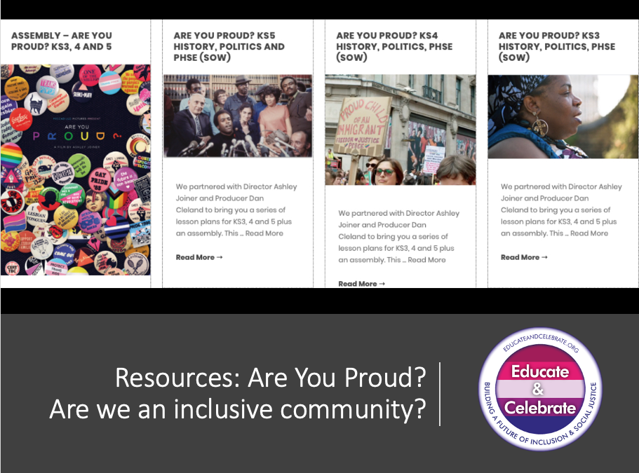 Are you Proud? Lesson plans