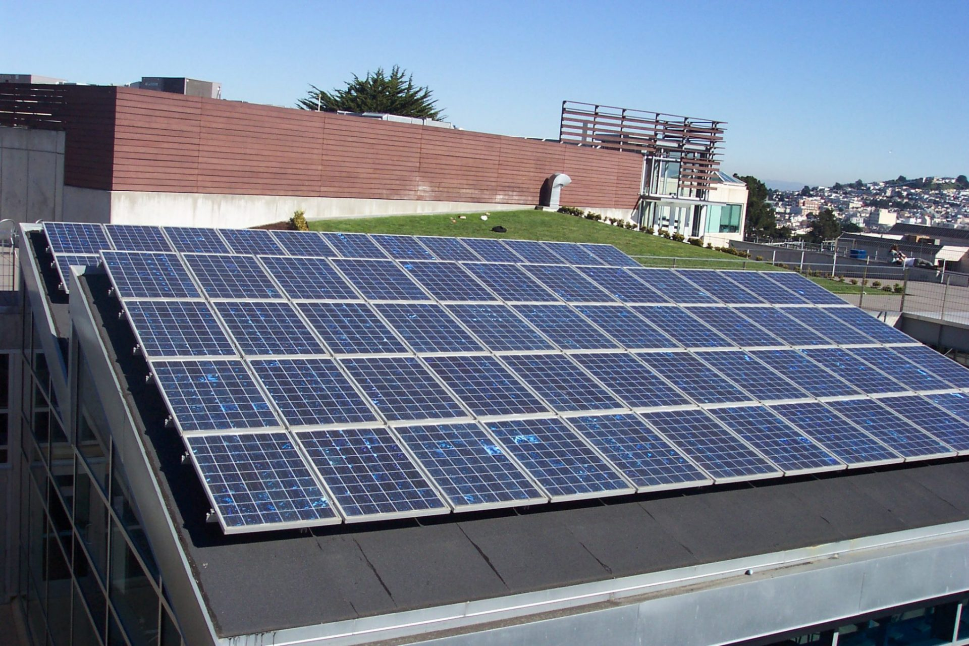 Zonnepanelen op school in San Francisco