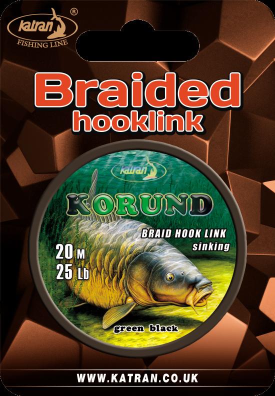 Braided hook links Korund 25 b