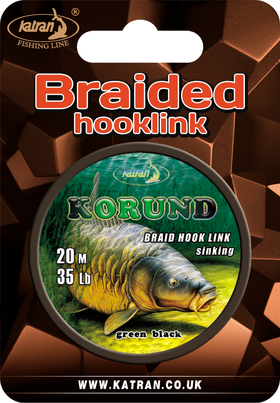 Braided hook links Korund 35 b