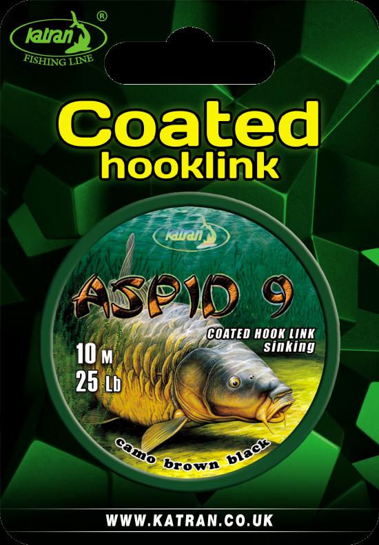 Coated braided hook links Aspid9 25 b