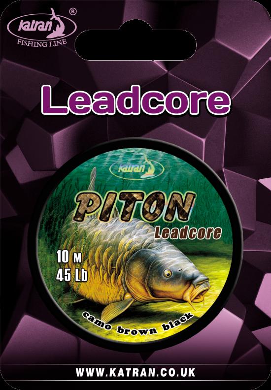 Lead core PITON brown 45Lb 10m (3)