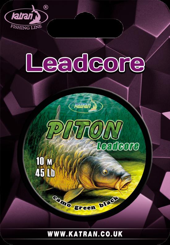Lead core PITON green 45Lb 10m (3)