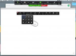 Online Unterricht mit Zoom. Whiteboard Funktion bei Zoom