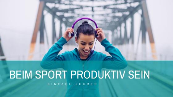 Produktivität steigern: Vorlesefunktion auf dem iPhone. Beim Sport produktiv sein
