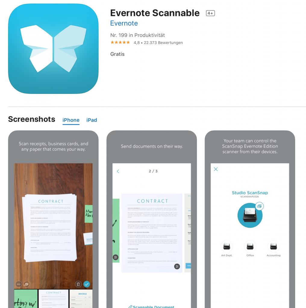 Apps für Lehrer: Scannable