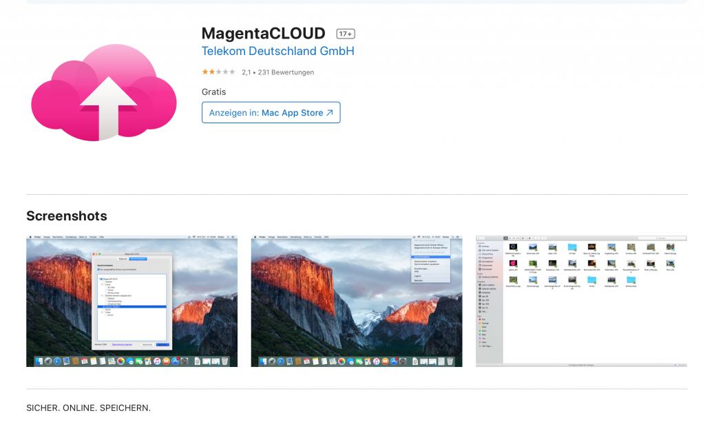 Apps für Lehrer: Magenta Cloud