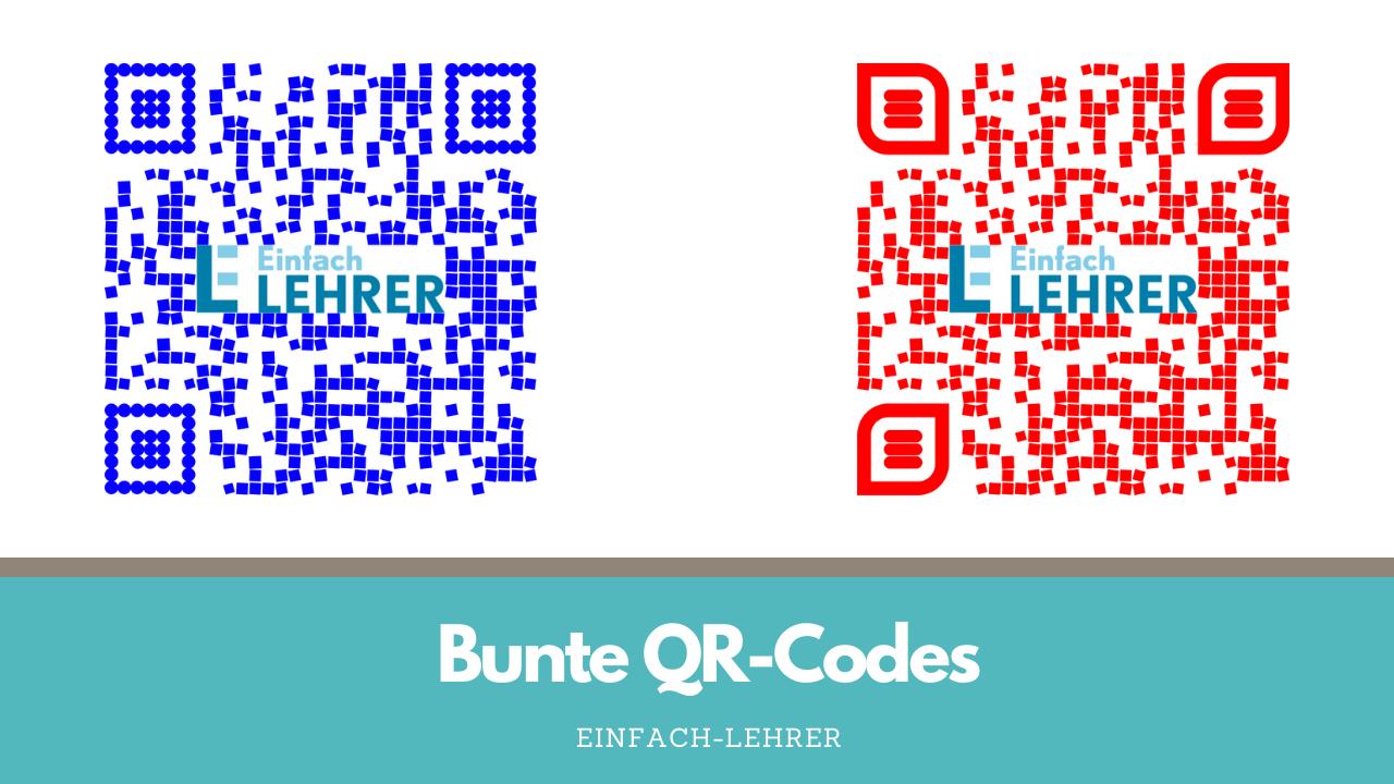 QR-Codes im Unterricht bunt gestalten