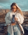 beautiful young norwegian girl holding vintage camera